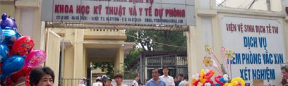 Cập nhật vắc xin chích ngừa ngày 01.07.2015 tại Hà Nội