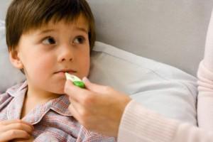 Nhiệt kế đo miệng trẻ bị sốt